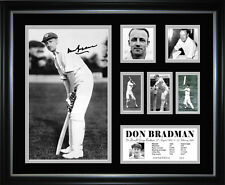 Don Bradman Signed Framed Memorabilia