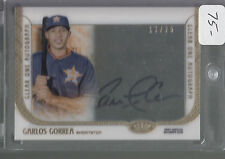2016 Topps Tier One Clear One Autograph Auto Carlos Correa 17/25 Houston Astros