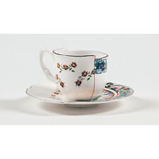 Seletti Fine Bone China Espresso Cup with Saucer Tamara