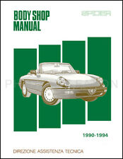 Alfa Romeo Spider Body Shop Manual 1991 1992 1993 1994 Veloce Graduate Quadrifog