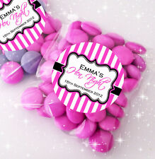 12x Personalised HEN NIGHT party favours SWEET BAGS KITS stickers&bags *STRIPES*