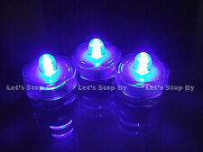 12 Blue Submersible Wedding Floralytes LED candle light