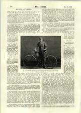 1896 Mr T A Edge Cycling Thousand Miles Record Attempt Cricket Football Comment