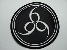 666  white  EMBROIDERED  PATCH