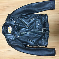 618 perfecto schott 36 steerhide leather double motorcycle jacket  racer 641
