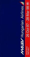 Malev Hungarian Airlines Timetable  October 26, 1997 =