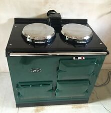 Aga Cooker - Fully Refurbished Two Oven OIL Fired Aga in BRG with Chrome Lids..