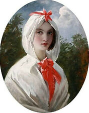 Art Oil painting Charles Robert Leslie - Beautiful young woman with white scarf