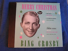 Bing Crosby/Merry Christmas/4 78s/Decca Album A-550/UNPLAYED/OLD NEW STOCK/*