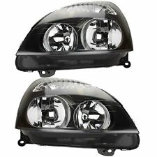 Renault clio Mk2 2001-2005 phares/headlamps noir 1 paire o/s & n/s