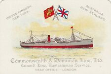 Commonwealth & Dominion Line Cunard Line ship advertising playing swap card