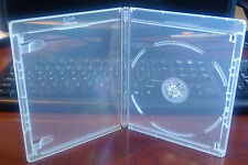 New 25 Pk CLEAR 12.5 mm VIVA ELITE Blu-Ray Case Single 1 Disc Storage Holder