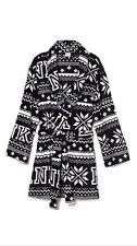 VICTORIAS SECRET PINK ROBE MARSHMALLOW BLACK FAIRISLE SHORT BATH Size XS/S -NWT!