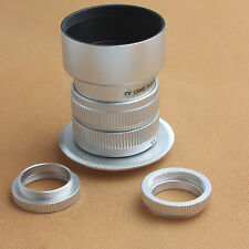 "35mm F/1.7 CCTV 2/3"" Lens for Sony NEX E mount  NEX-3 5 7 C3 5N F3&HOOD SILVER N"