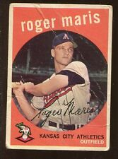 Roger Maris 1959 Topps 2nd YEAR CARD #202 New York Yankees Legend Offgrade!