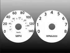 White Face Gauge Kit Fits 2007-2009 Nissan Sentra Dash Instrument Cluster 07-09