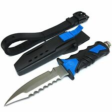 Saber Diving Knives Rescue Scuba Diver High Hardness w/ Leg Strap Free Ship BLUE