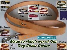 3 Foot Leather Dog Leash Made in the same style and color choice of our collars