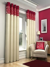 SKYE GENEVA & LILY RING TOP LINED EYELET CURTAINS & VOILE PANELS & BEDDING SET