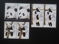 LIMITED EDITION ! 2012 SINGAPORE Giant Pandas Block of 2  Stamp Set x 3 (S-018)