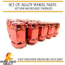 """Alloy Wheel Nuts Red (16) 1/2"""" UNF Tapered for TVR Sagaris 2004-2006"""