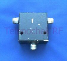 RF microwave single junction circulator 475 MHz CF/  100 MHz BW/ 150 Watt/ data
