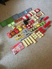 Pre Owned Disney Mega Bloks Set.  The World Of Cars.  W/ Manual. 96 Pieces.