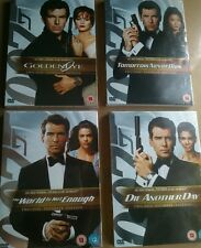 4 x Pierce Brosnan as James Bond DVDs (2 Disc Ultimate Editions) Sealed & Unused