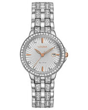 Citizen Eco Drive EW2340-58A Crystal Accented Stainless Steel Rose Gold Watch