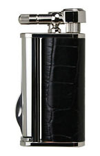 Tsubota Pearl EDDIE Crocodile Black Pipe Lighter with Tools, Seki Japan Old Boy☦