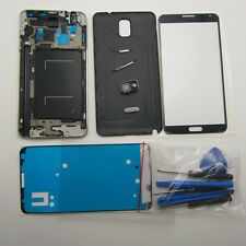 Black white case middle frame battery cover screen glass for galaxy note 3 n9005