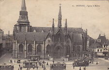 ROUBAIX, France - Early Street View. Church, People, Trams -(F690)