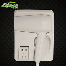 Wall Mounted Low Energy Bathroom Hair Dryer With Shaver Socket Hotel Dryer 1100W