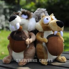 "ICE AGE 3 PLUSH STUFFED TOYS SQUIRRELS 7"" SCRAT SCRATTE PAIR SOFT DOLL"