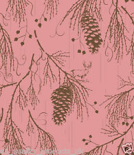 Kuboaa Wallpaper, Sequoia Wellington, Pink, Featured Wall, BNIB, RRP £57. K3SW05
