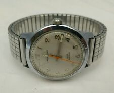 Vintage Caravelle Watch N5 Bulova Stainless Expansion Band Glow in the Dark