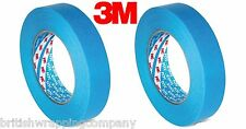 2 Rolls Of 3M 19mm x 50m Boat Care 3434 Blue Masking Tape,