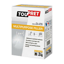 2kg Toupret 3 in 1 Multi Purpose Powder Fill Joint and Face Filler