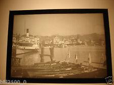 photo ancienne.plaque de verre positif. Suisse . Lucerne . bateau à vapeur