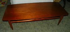 Walnut Mid Century Coffee Table by Mersman   (RP-CT115)