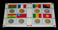 U.N.GENEVA #469, 2007, FLAG AND COIN, SHEET OF 8 , MNH,  NICE!! LQQK!!!