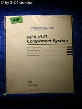 Sony Bedienungsanleitung MHC 5900 Mini Hifi Component System (#0449)