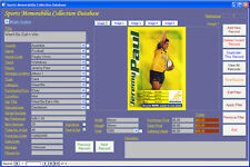 Sports Memorabilia Collection Database Software CDROM for Windows