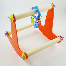 New Wooden PLAY STAND Perch Gym Parrot Bird Cages Toy Cockatiels Parakeet Seesaw
