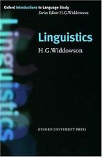 Linguistics Oxford Introduction to Language Study Series