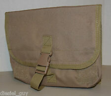 New!!! UTG Molle Gas Mask Pouch Bag Tan color 10.5x8x4 inches-Free shipping!!!