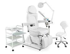 Fußpflegekabine Fußpflegestuhl elektrisch Kosmetikliege Frottierbezug Bedampfer
