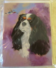 CAVALIER KING CHARLES SPANIEL CARD - LEFT BLANK FOR YOUR MESSAGE ref:5