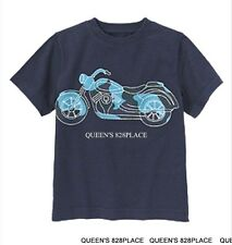 Nwt Gymboree boys Sz 12 Space voyager Navy Camo motorcycle T-shirt Top Bike New