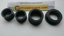 Yamaha R1  2002 - 2003 Captive wheel Spacers. Full set. Anodised Black